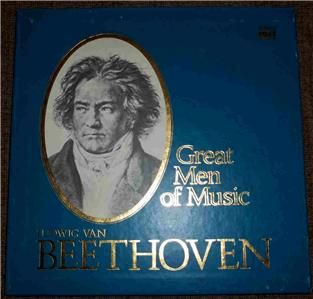Time Life Great Men of Music Ludwig Van Beethoven 33 RPM 4 LPs Record