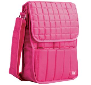 Lug Life Moped Day Pack Rose Pink Crossbody Messenger Purse Bag
