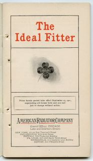 1902 1902 The Ideal Fitter American Radiator Co Boilers Asbestos
