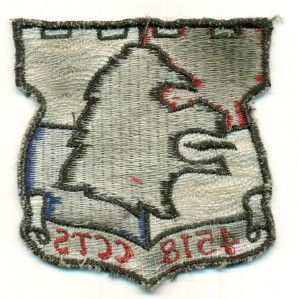 USAF 4518th Combat Crew Training Squadron Patch 1960 Luke AFB