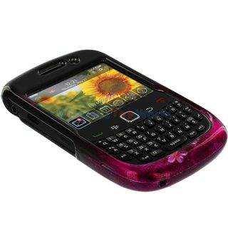 Purple Love Hard Skin Case Cover for Blackberry Curve 9330 9300 8520
