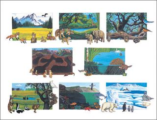 Betty Lukens Animals of The World Flannel Felt Book