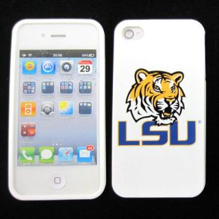 LSU Tigers Silicone Rubber Skin Case Phone Cover for Apple iPhone 4 4S