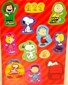 12 Peanuts Magnets Locker Fridge Magnet Set Party Favors Snoopy