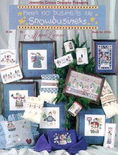 Alma Lynne Snowman Winter Christmas Cross Stitch LFLT