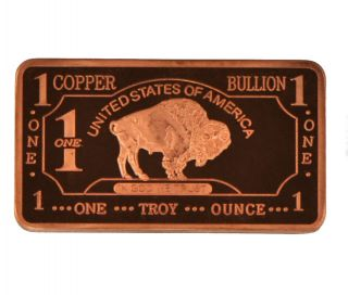 Troy oz Copper Bullion Buffalo Bar 999 Fine Amagi Metals Pure Copper