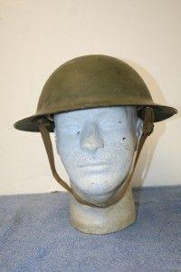 WW1 WWI British or US Army USMC Doughboy Brodie M1917 Combat Helmet