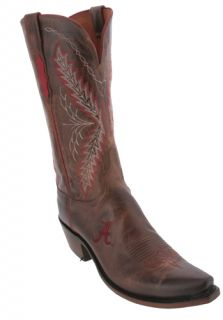 Lucchese Tan University of Alabama NCAA Womens Cowboy Boots