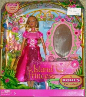 Features of Barbie (The Island Princess) Princess Luciana & Vanity Set