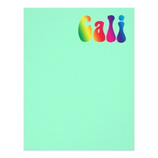 Cali Tie Dye California Hippie Logo Customized Letterhead