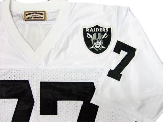 Lyle Alzado 77 Oakland Raiders White Sewn Throwback Mens Size Jersey