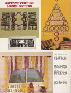 Macrame Artistry Vintage Patterns Curtain Hanging Shelf | eBay