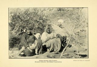 Mission Native Americans Indians C.F. Lummis ORIGINAL HISTORIC IMAGE