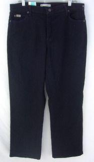 Lee Relaxed Stretch Straight Leg Black Denim Jeans 14 Short New