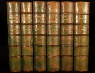 1898 99 6V Novels of Charles Lever Fine Binding