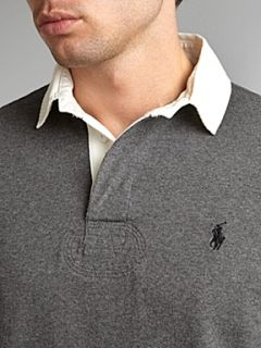 Polo Ralph Lauren Long sleeved classic rugby top Grey