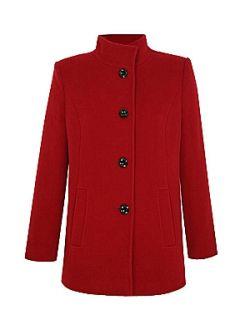 Eastex Funnel neck coat Red