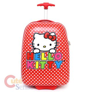 Hello Kitty Rolling Luggage,ABS Trolley Bag,17 Hard Suit Case Red