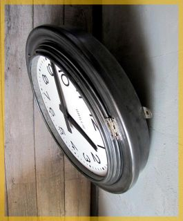 French Train Station Factory Industrial Clock Brillie