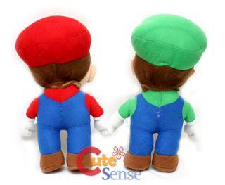 Super Mario Brothers Mario Luigi Plush Doll Set 13in