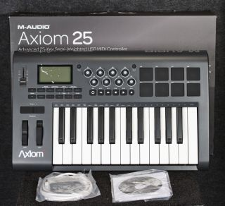 Audio Axiom 25 Keyboard Controller with Pads Open Box
