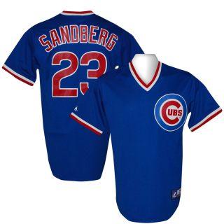 Cubs Ryne Sandberg Cooperstown Throwback Blue Jersey XXL