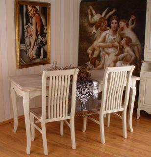 Romantischer Landhaus Tisch Esstisch Shabby Weiss PALAZZO24 2 WHL