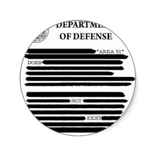 DoD Area 51 Sticker