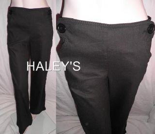 New Max Studio MSSP Black Linen Pants Misses Size 4