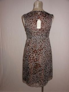 BCBG MSSP Silk Chiffon Twist Bodice Animal Print Cocktail Dress s 2 4
