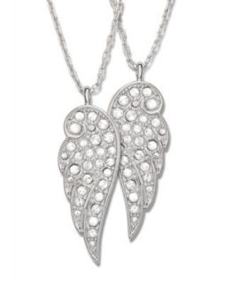 Eliot Danori Necklace, Pave Crystal Wing Pendant   Fashion Jewelry