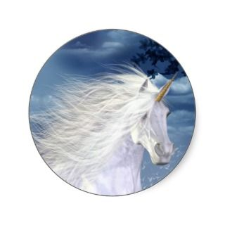 Unicorn White Beauty Close up Stickers