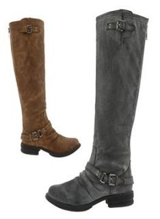 Madden Girl Tall Riding Style Boots in Tan