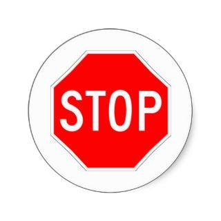 Stop Sign Customizable Sticker