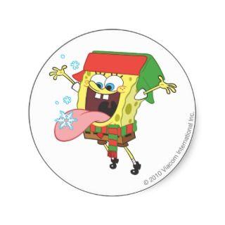 Sponge Bob in Ear Flaps Hat Sticker