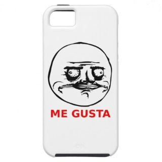 Me Gusta Face with Text iPhone 5 Cases