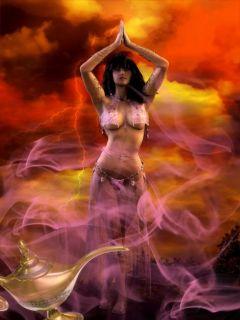 Sexy Efrit Seraglio Djinn Spirit Ring Sultans Royal Harem Girl