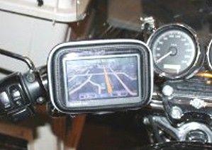 Bike Motorcycle Handlebar Mount Case Garmin Nuvi TomTom Magellan 3 5