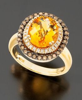 Le Vian 14k Gold Ring, Citrine (2 3/4 ct. t.w.) and Chocolate Diamond