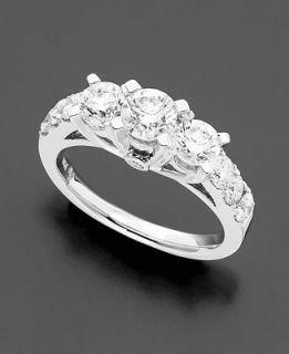 14k White Gold Three Stone Diamond Ring (3 ct. t.w.)