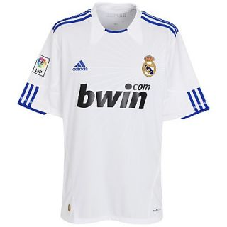 Real Madrid Adidas Mens XL Home Soccer Football Jersey Shirt 2010 11