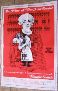 MAGGIE SMITH   MISS JEAN BRODIE + MORE 2 Original 1 Sheets   GREAT