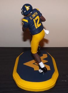 Geno Smith Custom McFarlane Figure West Virginia with Custom Base