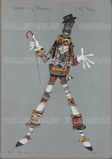 The Wiz 1978 ★ Nipsey Russell Costume Sketch Tin Man Wizard of oz