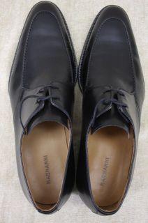 Magnanni Mens Basilio Black Leather Apron Toe Oxford Lace Up Shoes