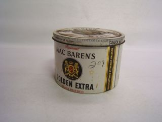 Mac Barens Golden Extra Tobacco Vintage Tin