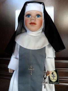 RARE Nun Doll Sister Magdelena by Geppeddo Porcelain Statue