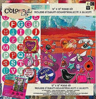 12x12 Scrapbooking Page Kit w Stickers Colorful Life