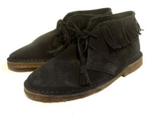 JCrew Suede Fringed MacAlister Boots 9 $158 Black