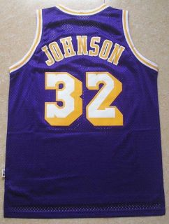 New Los Angeles Lakers Magic Johnson Jersey 32 Purple
